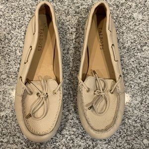 Light cream leather Talbots loafers